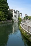 The Sile river in Treviso. Veneto district, Italy stock photography