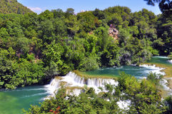 River in Skradinski Buk Royalty Free Stock Images