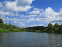 The river and the sky. View of nice river and the sky royalty free stock photo
