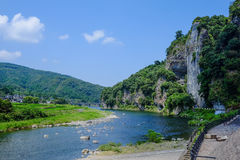 River and sky. Somewhere in Japan with river and sky Stock Image