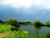 River and sky before the storm Royalty Free Stock Photography