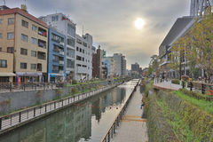 The river beside the sky tree Stock Images
