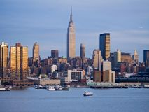 River Skyline. This is a shot of the Hudson River and the New York City skyline royalty free stock photography