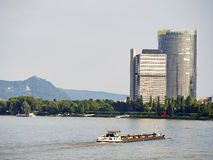 River and skyscraper Bonn Stock Photography