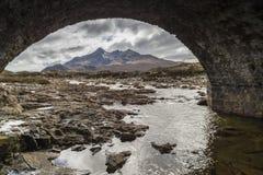 River Sligachan and bridge on the Isle of Skye. stock photo