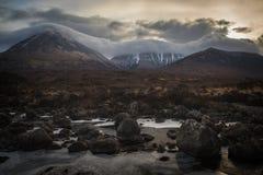 River Sligachan on Isle of Skye, Highlands, Scotland royalty free stock images