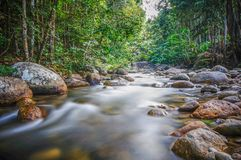 River and slow shutter effect stock photography