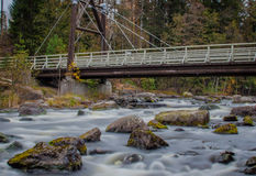 River. Small waterfall at Myllypuro, Finland Royalty Free Stock Images