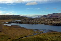 River on Snaefellsnes penisula in Iceland Royalty Free Stock Photos