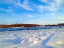 River and snow Royalty Free Stock Image