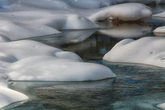 River Snow Formations Stock Photography