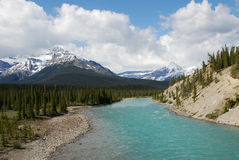 River and snow mountains Royalty Free Stock Photography