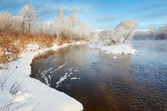 The river and snow Royalty Free Stock Image
