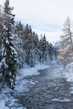 River in snow storm Royalty Free Stock Photography