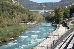 Soča river Stock Photo