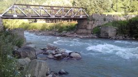 River in sonamarg. Sindh river sonamarg royalty free stock images