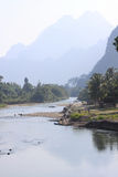 River song landscape, Laos. Stock Image
