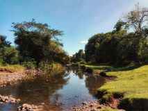 River in South Palaw. Landscape with River in Philippines Royalty Free Stock Photos