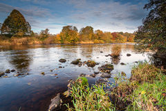 River South Tyne in Autumn Royalty Free Stock Image