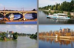 River Southern Bug in Vinnitsa Royalty Free Stock Image