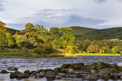 The river Spey at Craigellachie. royalty free stock images