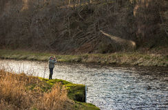 River Spey, opening day of fishing season 2014. Stock Photos