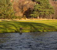 River Spey, opening day of fishing season 2014. Stock Image