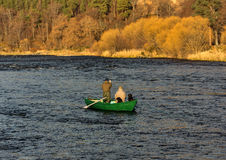 River Spey, opening day of fishing season 2014. Royalty Free Stock Photography