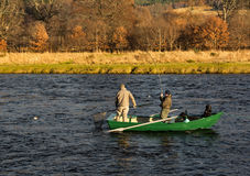 River Spey, opening day of fishing season 2014. Royalty Free Stock Images
