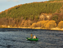 River Spey, opening day of fishing season 2014. Royalty Free Stock Photos