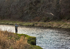 River Spey, opening day of fishing season 2014. Royalty Free Stock Photo