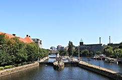 River Spree,Berlin Stock Photography