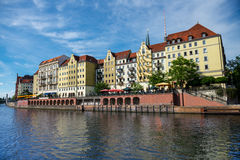 River Spree in Berlin and old architecture Stock Images