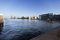 River Spree View from Oberbaumbr?cke Royalty Free Stock Image