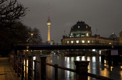 River Spree, Bode Museum and TV Tower in Berlin Royalty Free Stock Photo