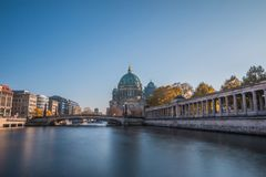 River Spree with bridge and Berlin Cathedral royalty free stock photos