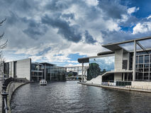 River Spree and bridge in front of the german Chancellery in Ber Royalty Free Stock Photography