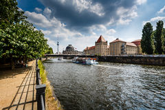River Spree Embankment and Museum Island, Berlin Royalty Free Stock Photography