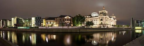 River Spree near Reichstag. Panorama. Stock Photo