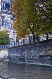 river Spree next to the building Royalty Free Stock Image