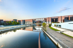 River Spree and office building of the German Parliament in Berl Royalty Free Stock Photography