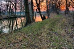 River Spree in winter Stock Photos