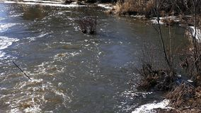 River in spring. The river in the spring after the ice melts stock video