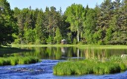 River in spring Stock Photo