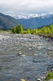 River in spring season. Toce river, Domodossola, Italy Royalty Free Stock Photography