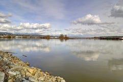 River at springtime Stock Photo