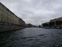 River In St. Petersburg. River channel in St. Petersburg, taken in summer time Royalty Free Stock Images