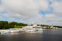 River Station on the banks of the Volga River Stock Images