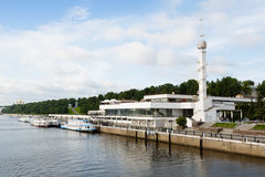 River Station on the banks of the Volga River Royalty Free Stock Photography