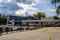 River Station in the town of Ostashkov Royalty Free Stock Photography